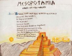 Waldorf ~ grade ~ Ancient Mesopotamia ~ main lesson book There are other topics in here.Knights, etc. Ancient Greece, Ancient Egyptian Art, Ancient History, Ancient Book, European History, Ancient Aliens, Ancient Artifacts, American History, 6th Grade Social Studies