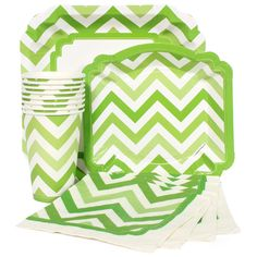 Lime Green Chevron Party Supplies.