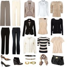 """Capsule Wardrobe - Neutrals and No Skirts"" by wardrobeoxygen on Polyvore"
