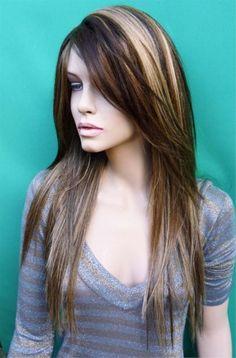 Strange Bangs Dark Brown And Brown On Pinterest Short Hairstyles Gunalazisus