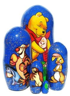 "Winnie The Pooh Nesting Doll (5-pc) 4""H in Blue for only $22.95 You save: $13.00 (36%)"