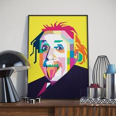 """""""Two things are infinite: the universe and human stupidity; and I'm not sure about the universe."""" Albert Einstein. Denne smarte herremannen lanseres i nettbutikken i kveld!"""