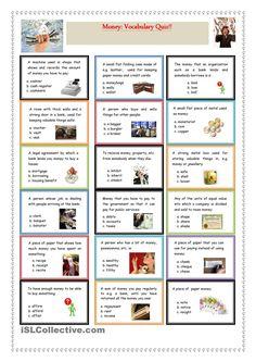 Money: Vocabulary Quiz