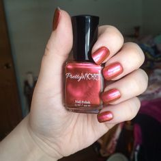 Red and Orange Color Shifting Nail Polish by PrettyWickedPolish