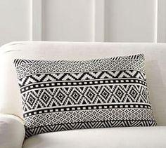 Gemma Jacquard Lumbar Pillow Cover