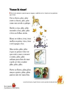 Atividades poemas sobre o inverno 1º ciclo Fairy Tales For Kids, Educational Games, Games For Kids, Homeschool, Language, App, Piano, Literacy Activities, Poems About Winter