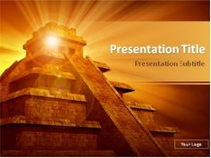 Pharaohs secret powerpoint template designed will be a good help this powerpoint template will be a great choice for presentations on mexican history mesoamerican architecture toneelgroepblik Choice Image