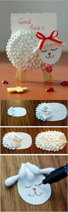 Lamb Holder for Notes - DIY - would be cute for Easter kids Sunday school Mom