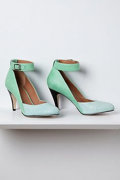 Favorite thing in my closet right now. :) Super comfy and soft soft leather. Schuler & Sons - Lola Heels #anthropologie