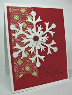 stamping up north with laurie: Stamping Up.......Glitter Snowflake card