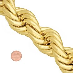 A Complete Review Of Bling Factory's Jumbo 14k Gold Plated Rope Necklace. Review, Material Description - Check Out This Jumbo Size Chain!