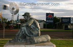 The Jolly Swagman statue, Winton, Qld.