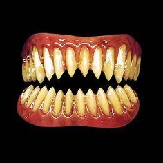 sharp halloween teeth. sharp pointed costume teeth halloween