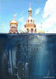 № 22 Famous Structures, Ad Layout, Russian Culture, Fantasy Landscape, Diy Garden Decor, Style Guides, Facade, Taj Mahal, Cool Art