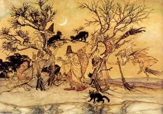 6 The Witches Sabbath illustrator Arthur Rackham