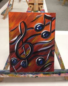 musical notes paintings - Google Search