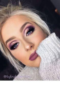 Cut off the fold. Purple eye makeup – Make-up-Ideen – Cut off the fold. Purple eye makeup – Make-up-Ideen – [. Purple Eye Makeup, Smokey Eye Makeup, Eyeshadow Makeup, Eyeshadow Palette, Purple Eyeshadow Looks, Sparkly Eyeshadow, Purple Smokey Eye, Purple Makeup Looks, Eyeshadow Ideas