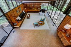 Mid Century house in Knoxville - living
