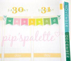 8 Weekend Bunting Planner Stickers Erin Condren by pipspalette