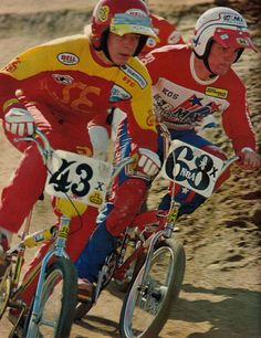 Stu and Kosmala back in the day. Yes, that is an SE Racing sticker on a Mongoose frame.