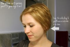 growing out a pixie cut | let the sides grow those parts around your ear will grow out and will ...