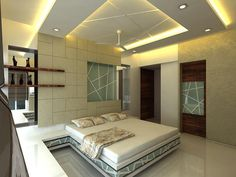 New modern false ceiling designs 2019 for bedroom with LED lights and how to make stylish bedroom false ceiling design, suspended ceiling and stretch ceiling with different materials, the best false ceiling designs and ideas for bedroom 2019 House Design, Ceiling Design Bedroom, Bedroom False Ceiling Design, Bedroom Design, Modern Bedroom, Bedroom Ceiling, Interior Design Bedroom, Living Room Designs
