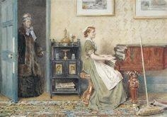 George Goodwin Kilburne - Only a maid