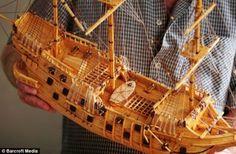 Matchstick master David Reynolds spent ten years creating a fleet of 20 matchstick ship models All Craft, Craft Stick Crafts, Wood Crafts, Fun Crafts, Craft Sticks, Model Sailing Ships, Model Ships, Sailing Boat, Matchstick Craft