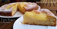 La Torta Yogurt e Ananas è senz'altro un dolce da consumare sopratutto in estate perché conserva tutto il sapore fresco dell'ananas. La sua preparazione è semplice ed anche veloce.