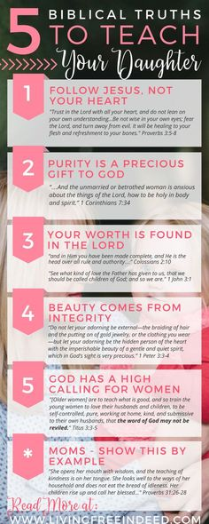 5 Biblical Truths to Teach Your Daughter - Free Indeed