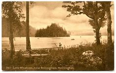 WASHINGTON Bellingham - Lake Whatcom - EHM Sepia postcard