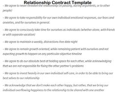 Relationship Contract Template 30
