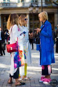 Paris Fashion Week SS 2016 Street Style: Elisa Nalin and Mira Mikati