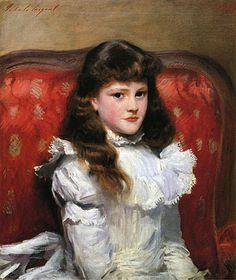 Miss Cara Burch -- John Singer Sargent (1856 – 1925, American)