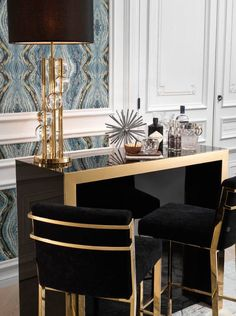 Offer a stylish twist to your casual or formal lounge or dining room interior with the luxury Scott Barstool. Modern Home Bar Designs, Room Interior, Interior Design, Luxury Interior, Richmond Interiors, Contemporary Table Lamps, Luxury Lighting, Apartment Design, Apartment Therapy