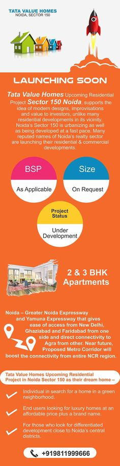 Tata Value Homes Upcoming Residential Project is a high rise development of 2 & 3 BHK Apartments in different sizes & configurations with modern designs at very affordable price. Visit here for more information: https://www.indrealestates.com/project/tata-value-homes-noida/