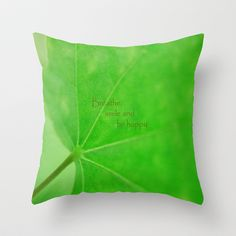 "Green Curve Throw Pillow by Irina Wardas  Note to self:   Design pillow fronts.  Have printed on ""felt blanket"".  Trim out fronts from blanket.  Finish the pillow with back & stuffing."