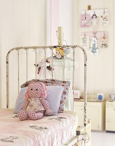 Vintage Iron Bed - decorating with antiques