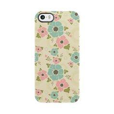 "Nostalgic flowers iPhone 5/5S Deflector Beige seamless vintage pattern ""Nostalgic flowers""  $19.49"