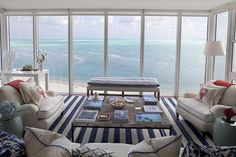 couches with piping | See more of these picturesque images at http://seasidestyle.blogspot ...