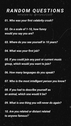 Questions To Ask People, Questions To Get To Know Someone, Getting To Know Someone, Get To Know Me, Random Questions, Deep Questions, Snapchat Story Questions, Instagram Story Questions, Instagram Story Ideas