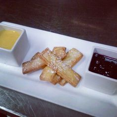 Have a sweet tooth? Come in while delicious supplies last for shortbread #cookies w/ passion fruit curd & brown butter-blueberry compote! All this #yum is just $6! Passion Fruit Curd, Restaurant Specials, Blueberry Compote, Desserts Menu, Shortbread Cookies, Brown Butter, Waffles, Sweet Tooth, French Toast
