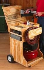 fee plans woodworking resource from WoodworkersWorkshop Online Store - workstation,cabinet,storage,downloadable PDF,patterns,workshop,compre...