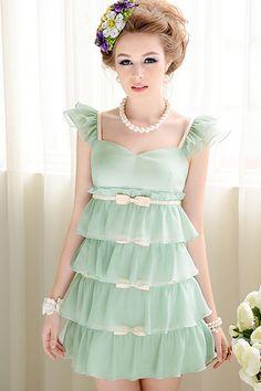 Sweet Flouncing Tiered Mini Dress