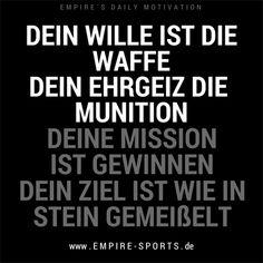 www.empire-sports.de #EHRGEIZ #GEWINNEN #POWER #WILLE #ZIEL #ERFOLG #BODYBUILDING #FITNESS #MOTIVATION #GYM