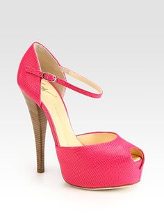 Pink Mary Janes.