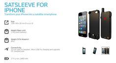 #Comunicación #satélites SATSLEEVE, la carcasa que transforma un iPhone en un móvil satelital