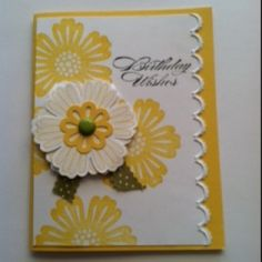 This card is made with Stampin' Up stamp set Mixed Bunch and the new Edgelits- Adorning Accents.
