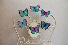 3d butterfly wall decals nursery butterfly by ArtofNoCommitment