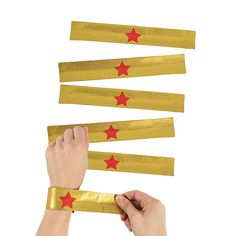 Gold+Superhero+Slap+Bracelets+-+OrientalTrading.com
